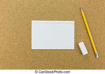 μολύβι , αξίες ταμπλώ , γομολάστιχα , φελλός