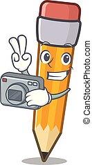 μολύβι , γελοιογραφία , τσάντα , φωτογράφος