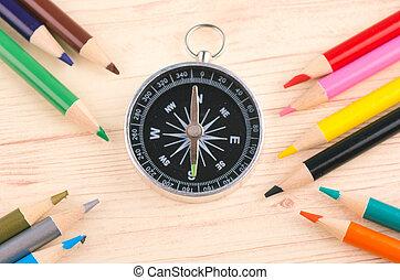μολύβι , κατεύθυνση , γενική ιδέα , αρμοδιότητα μπογιά , ξύλινος , φόντο , περικυκλώνω , μόρφωση , ή