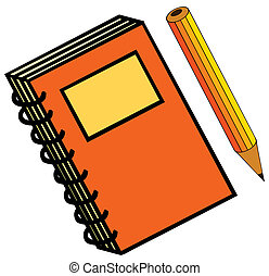 μολύβι , σημειωματάριο
