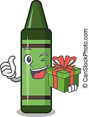 μολύβι , σχήμα , πράσινο , δώρο , γουρλίτικο ζώο