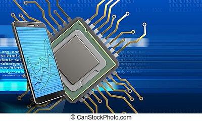 μονάδα επεξεργασίας υπολογιστή , 3d