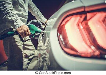 μοντέρνος , ανεφοδιάζομαι με καύσιμα , όχημα