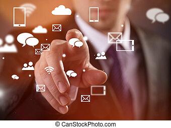 μοντέρνος , ασύρματη τηλεφωνία τεχνική ορολογία , και , κοινωνικός , μέσα ενημέρωσης