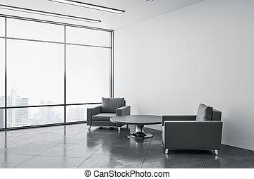 μοντέρνος δωμάτιο , δυο , έδρα , αναμονή