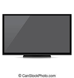 μοντέρνος , κενό , αδρανής αλεξήνεμο tv , απομονωμένος , αναμμένος αγαθός , φόντο