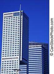 μοντέρνος , κτίρια , μέσα , κάτω στην πόλη , από , βαρσοβία