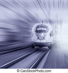 μοντέρνος , high-speed , train.