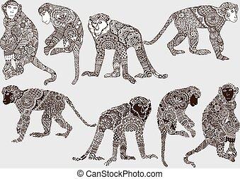 μονόχρωμος , ρυθμός , μαϊμού , mehendi