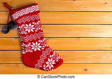 μονό , κόκκινο , χρώμα , αδειάζω , μάλλινος , διακοπές χριστουγέννων κάλτσα