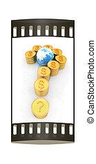 μορφή , ερώτηση , βγάζω , δολάριο , χρυσός , σημαδεύω , ταινία , κέρματα , αναχωρώ.