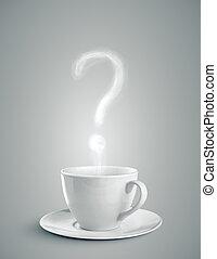 μορφή , ερώτηση , κύπελο , βαθμολογία , καφέs , καπνός