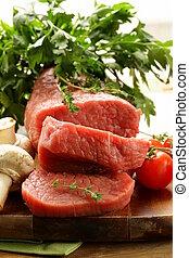 μοσχάρι , φρέσκος , ωμό κρέας
