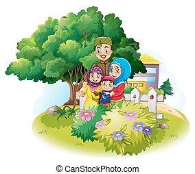 μουσελίνη , κήπος , οικογένεια