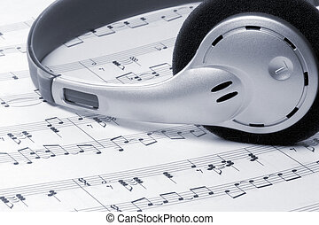 μουσική , ακουστικά