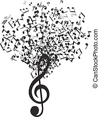 μουσική , δέντρο