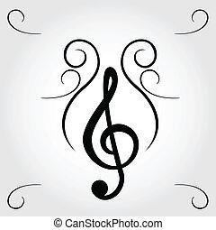 μουσική με υψίφωνο κλειδί
