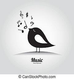 μουσική , πουλί
