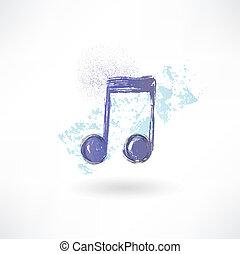 μουσική , icon., grunge