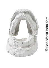 μούχλα , από , ένα , γεμάτος , θέτω , από , ανθρώπινο όν δόντια