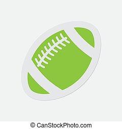 μπάλα , απλό , ποδόσφαιρο , - , αμερικανός , πράσινο , εικόνα
