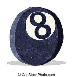 μπάλα , οκτώ , γελοιογραφία