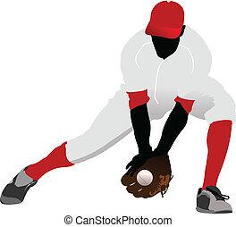 μπέηζμπολ , μικροβιοφορέας , έγχρωμος , player.