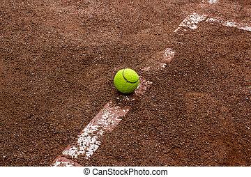 μπαλάκι του τέννις , αυλή , κόκκινο