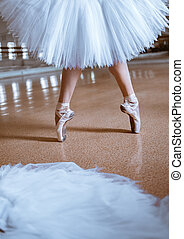 μπαλλαρίνα , γκρο πλαν , παπούτσια , νέος , πόδια , pointe