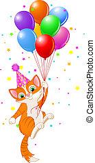 μπαλόνι , γάτα