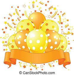 μπαλόνι, γιορτή, σχεδιάζω