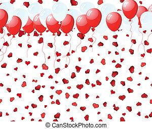 μπαλόνι , επάνω , αγάπη