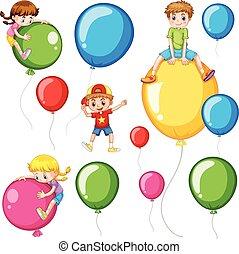μπαλόνι , παιδιά , γραφικός