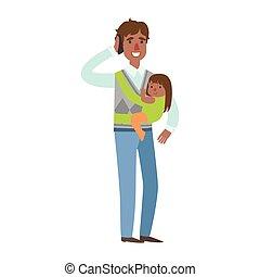 μπαμπάς , ειδών ή πραγμάτων , σφεντόνα , σειρά , εικόνα , λόγια , τηλέφωνο , βρέφος δεσποινάριο , ευτυχισμένος , τρυφερός