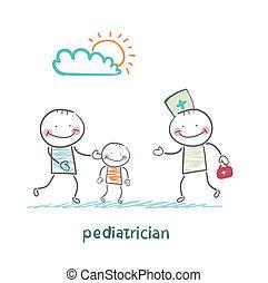 μπαμπάς , παιδί , ακολουθούμαι από , άρρωστος , παιδίατρος