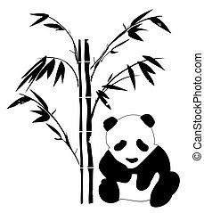 μπαμπού , αρκτοειδές ζώο της ασίας
