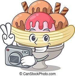 μπανάνα , φωτογράφος , χαρακτήρας , δροσερός , φωτογραφηκή...