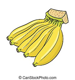 μπανάνα , -vector, γελοιογραφία , εικόνα , απομονωμένος