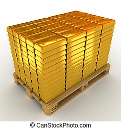 μπαρ , pallet., λώτ , χρυσός