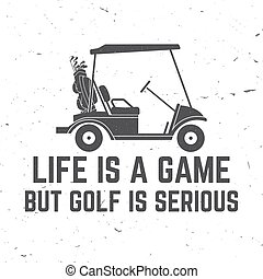 μπαστούνι , άμαξα αυτοκίνητο. , παίζων γκολφ , γκολφ , γενική ιδέα