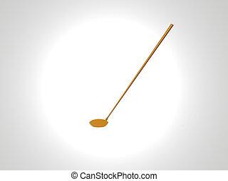 μπαστούνι , γκολφ , χρυσός