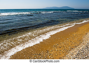 μπλε , άμμος ακρογιαλιά , θάλασσα , κύμα