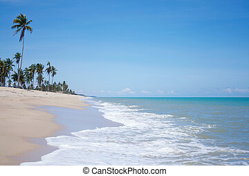 μπλε , άμμος αχανής έκταση , κύμα