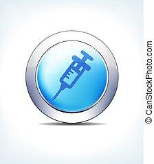 μπλε , έγχυση , κλυστήρ , αίμα , εικόνα , κουμπί , μικροβιοφορέας