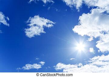 μπλε , ήλιοs , αγαθός θαμπάδα , ουρανόs