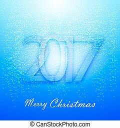 μπλε , απαλός , χιόνι , φόντο , xριστούγεννα