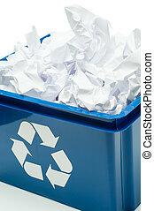 μπλε , αποθήκη , ανακύκλωση , κουτί , χαρτί , σπατάλη