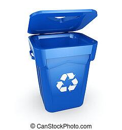 μπλε , αποθήκη , ανακύκλωση