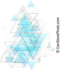 μπλε , αποσιωπητικά , τριγωνικό σήμαντρο , structure., αφαιρώ , poly, polygonal, σύνδεση , lines., μικροβιοφορέας , χαμηλός , φόντο , συνδετικός