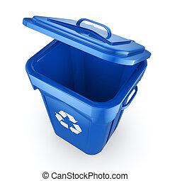 μπλε , απόδοση , ανακυκλώνω δοχείο , 3d